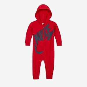 {nike} all day play hooded coverall jumpsuit baby